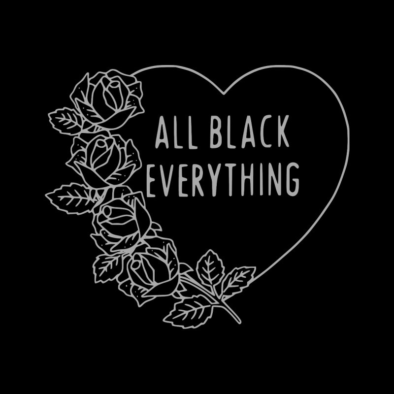 All Black Everything Heart Roses by Pretty In Punk