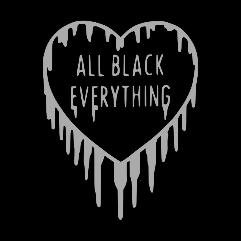 All Black Everything Ice Heart by Pretty In Punk
