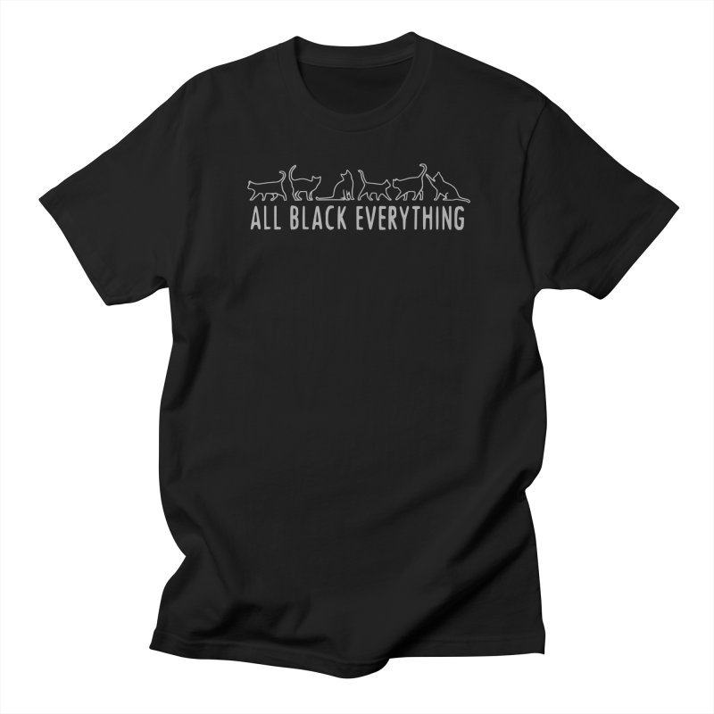 All Black Everything Black Cats Men's Regular T-Shirt by Pretty In Punk