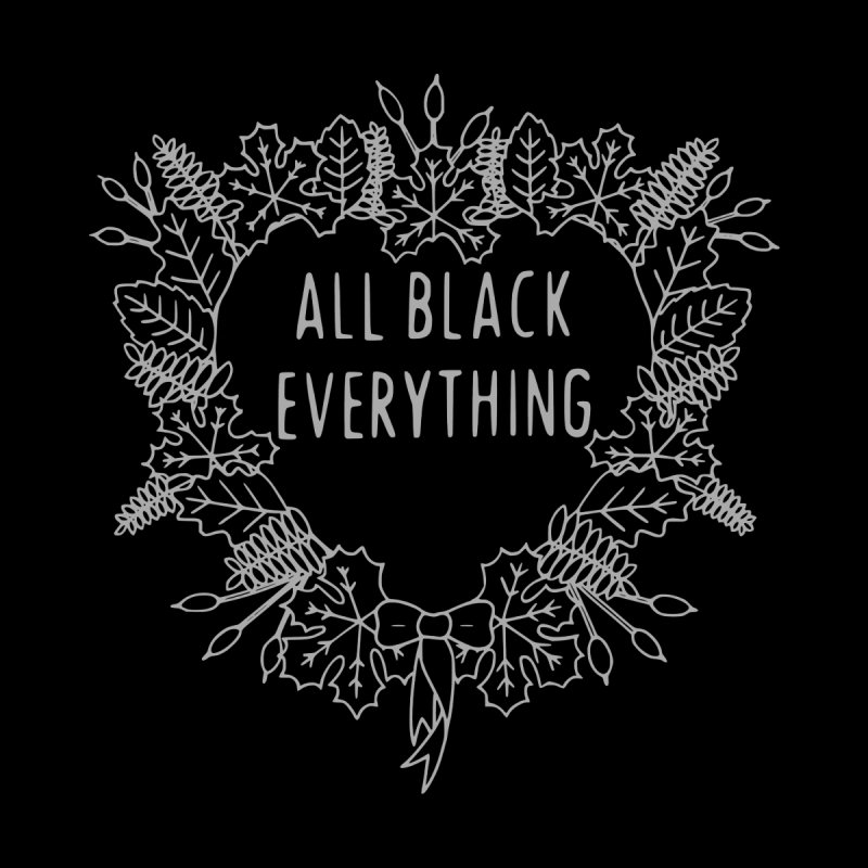 All Black Everything Black Wreath by Pretty In Punk