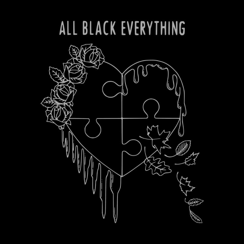 All Black Everything Black Puzzle Heart by Pretty In Punk