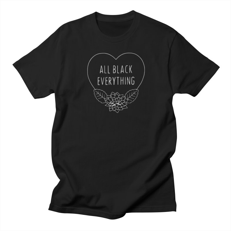 All Black Everything Black Dahlia Men's Regular T-Shirt by Pretty In Punk