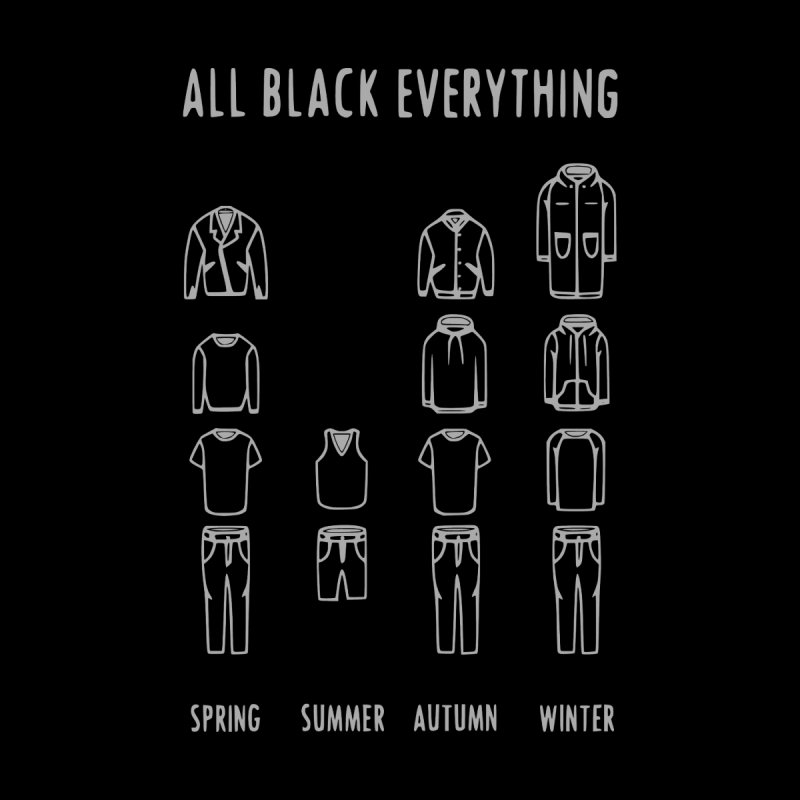 All Black Everything Four Seasons by Pretty In Punk