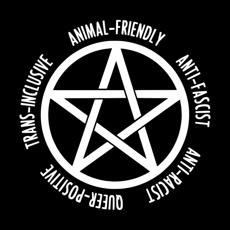 Intersectional Witchcraft Pentagram (B&W) Men's T-Shirt by Pretty In Punk