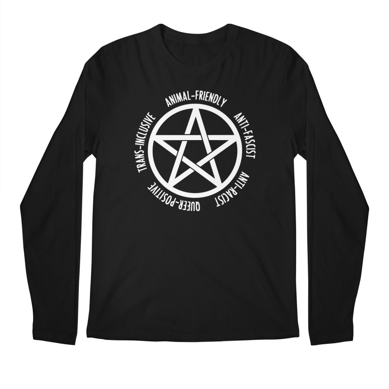 Intersectional Witchcraft Pentagram (B&W) Men's Regular Longsleeve T-Shirt by Pretty In Punk