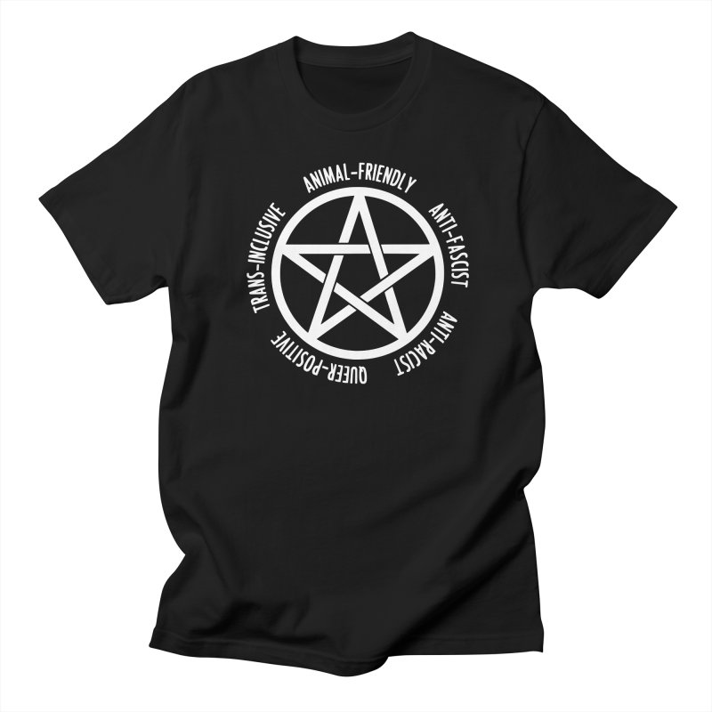 Intersectional Witchcraft Pentagram (B&W) Men's Regular T-Shirt by Pretty In Punk