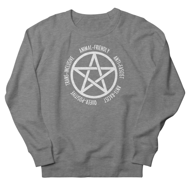 Intersectional Witchcraft Pentagram (B&W) Men's French Terry Sweatshirt by Pretty In Punk