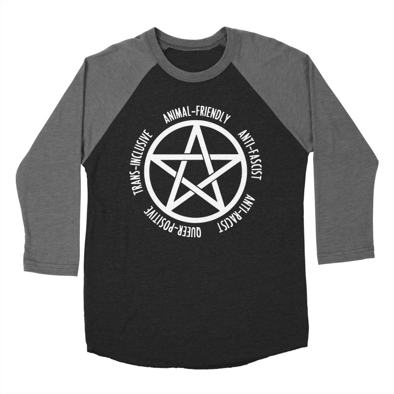 Intersectional Witchcraft Pentagram (B&W) Women's Baseball Triblend Longsleeve T-Shirt by Pretty In Punk