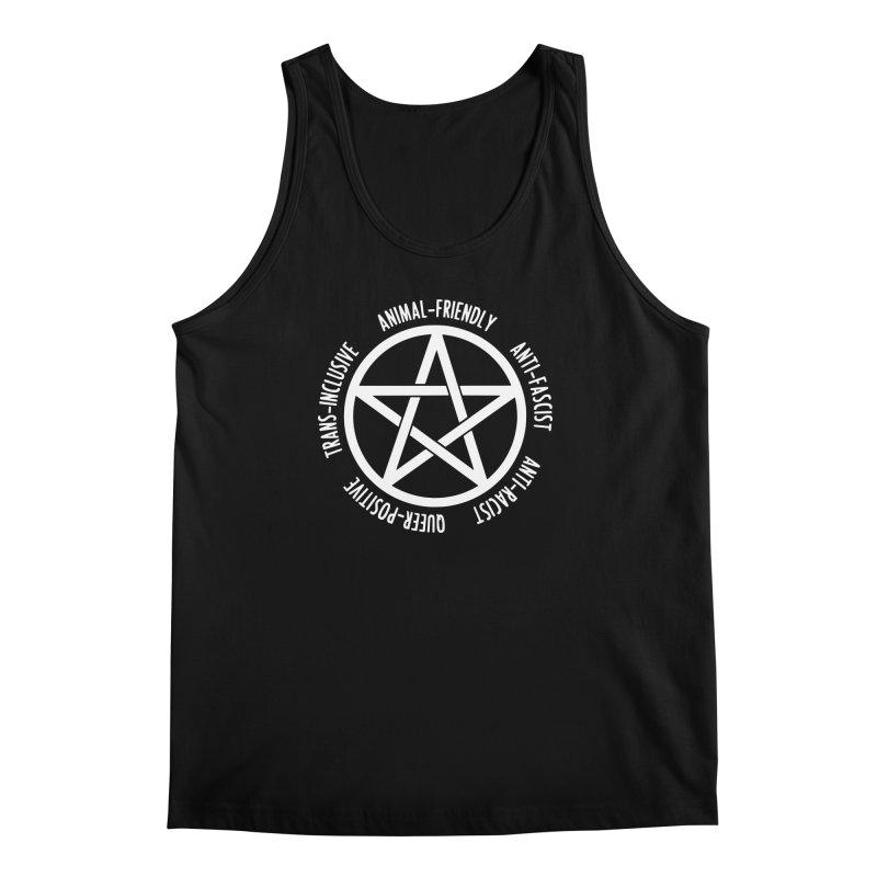 Intersectional Witchcraft Pentagram (B&W) Men's Regular Tank by Pretty In Punk