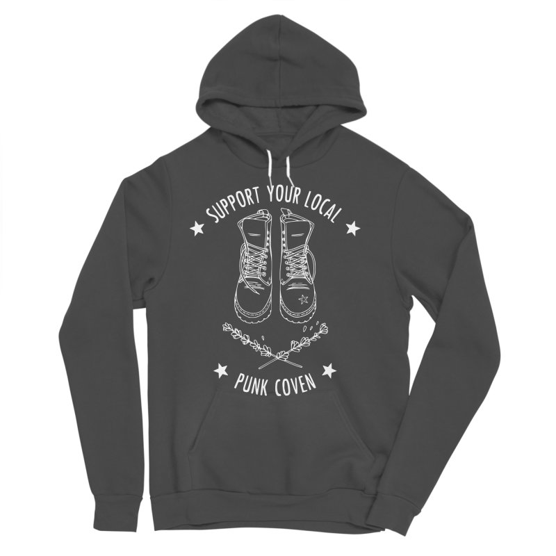 Support Your Local Punk Coven Women's Sponge Fleece Pullover Hoody by Pretty In Punk