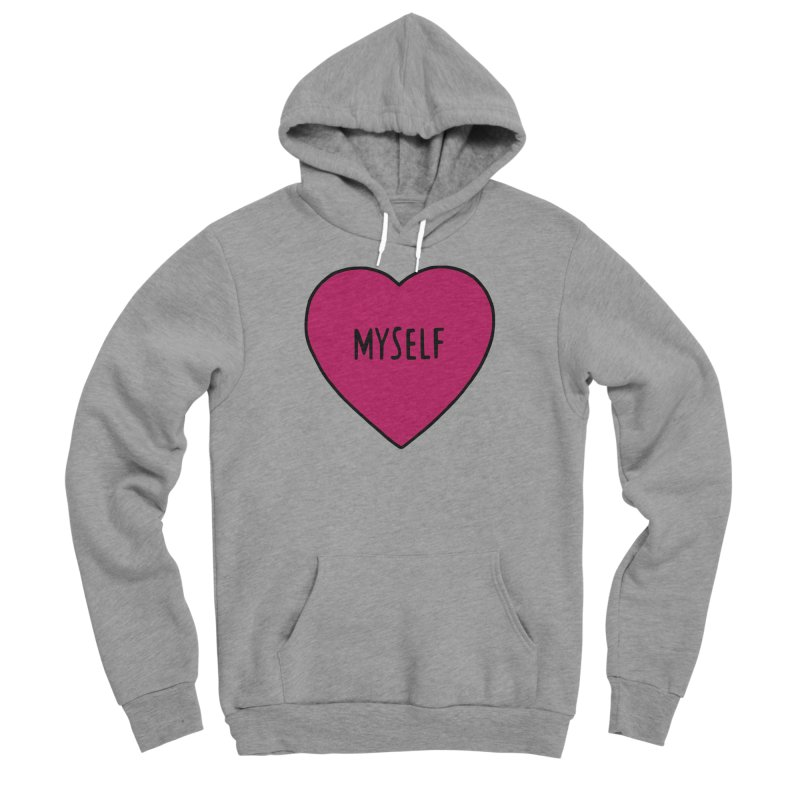Myself Women's Sponge Fleece Pullover Hoody by Pretty In Punk