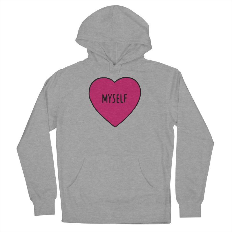 Myself Women's French Terry Pullover Hoody by Pretty In Punk