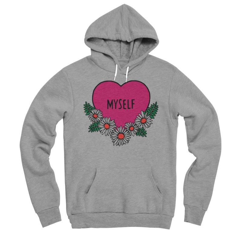 Myself Daisies Women's Sponge Fleece Pullover Hoody by Pretty In Punk