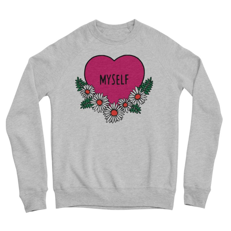 Myself Daisies Women's Sponge Fleece Sweatshirt by Pretty In Punk
