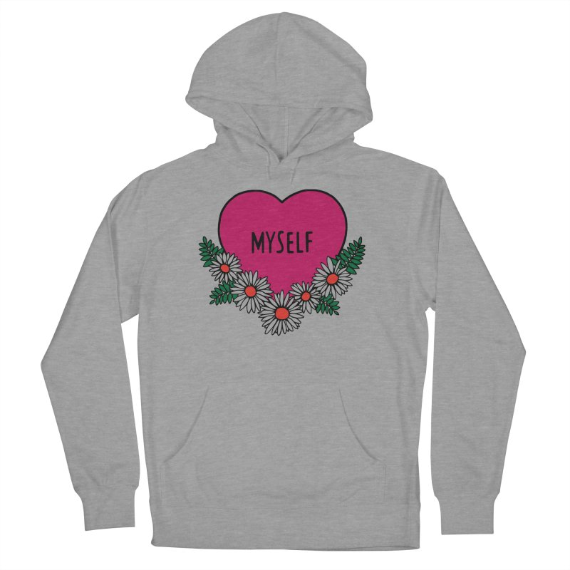 Myself Daisies Women's French Terry Pullover Hoody by Pretty In Punk