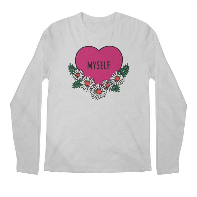 Myself Daisies Men's Regular Longsleeve T-Shirt by Pretty In Punk