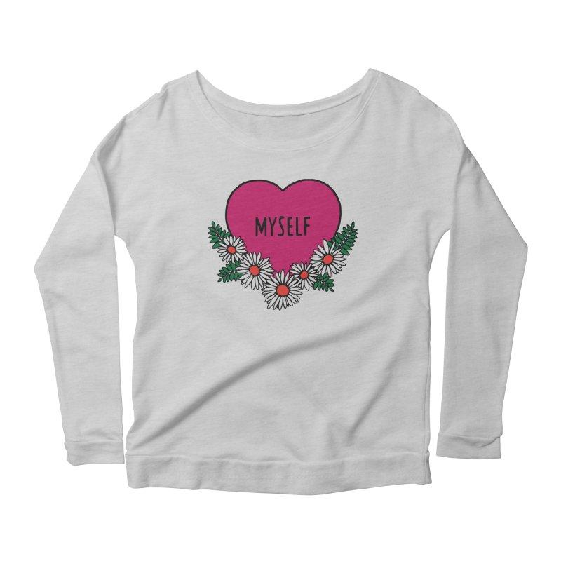 Myself Daisies Women's Scoop Neck Longsleeve T-Shirt by Pretty In Punk