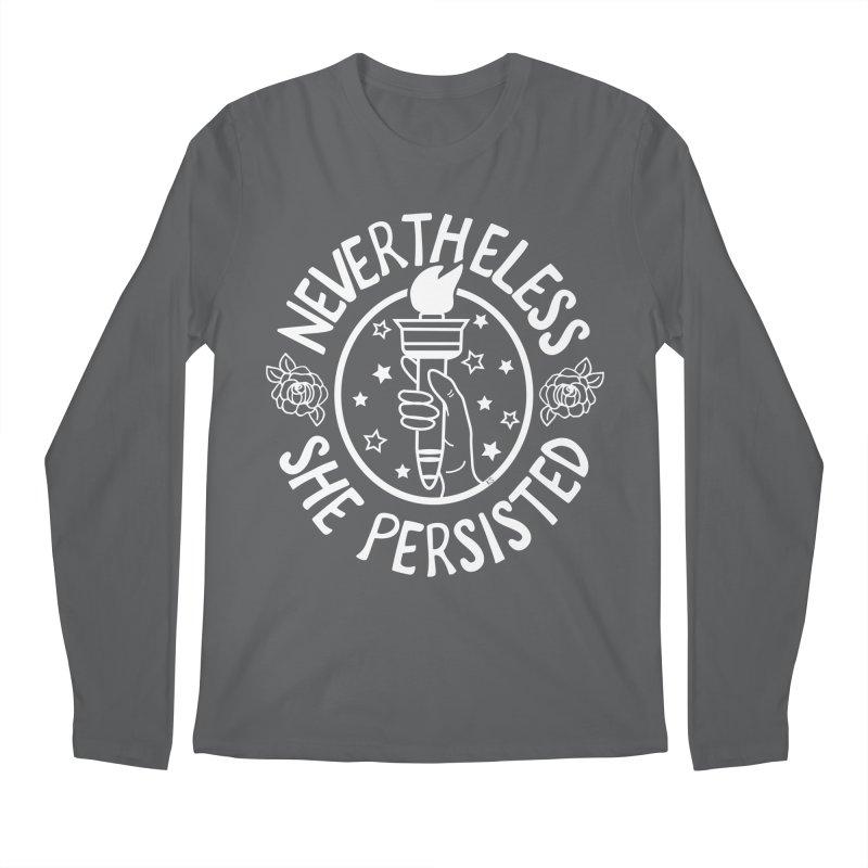 Nevertheless She Persisted - Profits benefit Planned Parenthood Men's Regular Longsleeve T-Shirt by prettyprismatic's Artist Shop