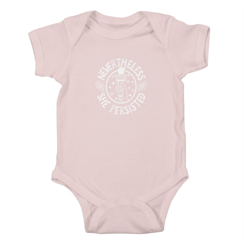 Nevertheless She Persisted Kids Baby Bodysuit by prettyprismatic's Artist Shop