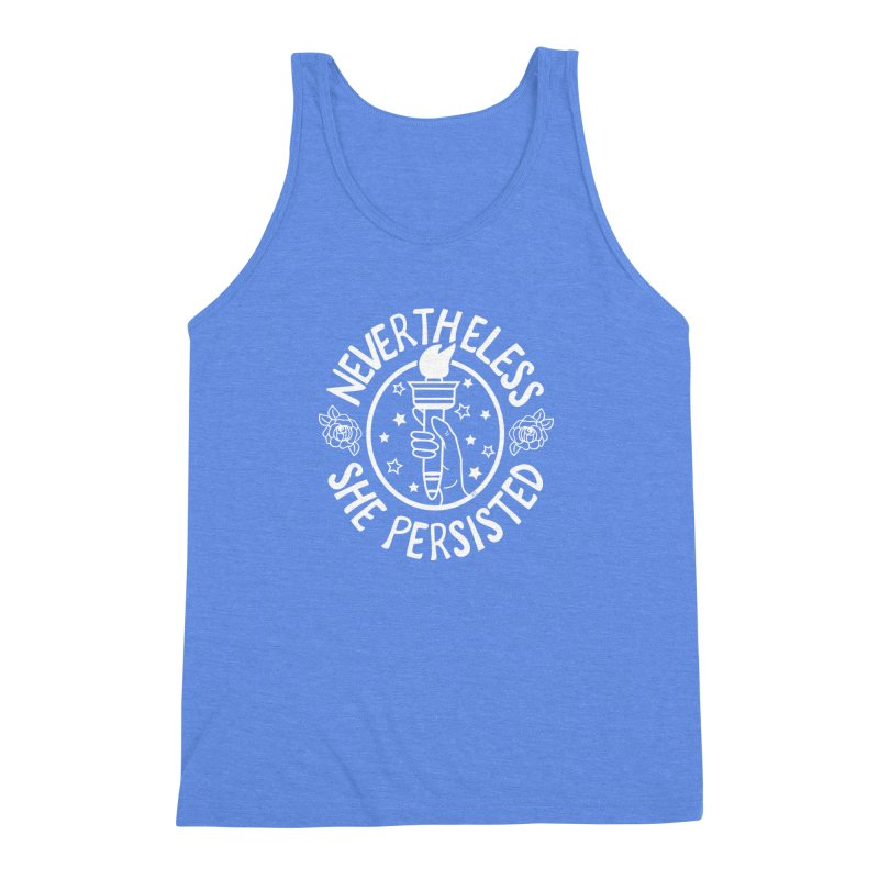 Nevertheless She Persisted - Profits benefit Planned Parenthood Men's Triblend Tank by prettyprismatic's Artist Shop