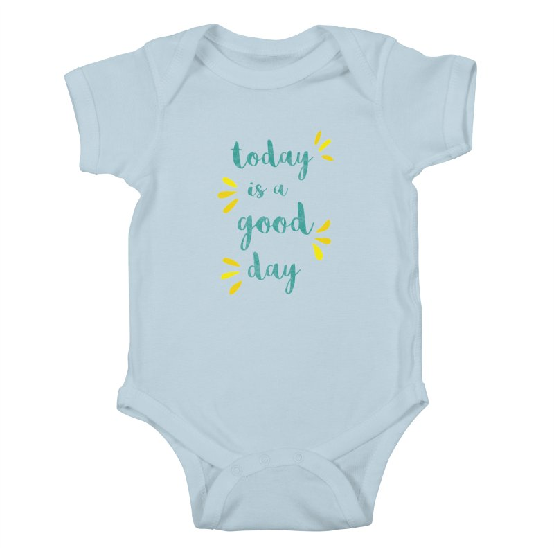 Good Day Print Kids Baby Bodysuit by prettyprismatic's Artist Shop