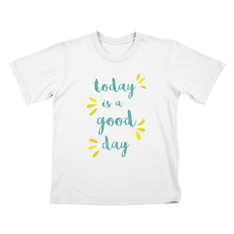 Good Day Print Kids T-Shirt by prettyprismatic's Artist Shop