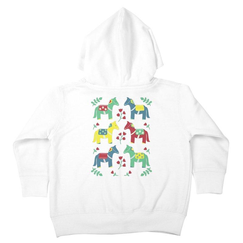Scandinavian Horses Print Kids Toddler Zip-Up Hoody by prettyprismatic's Artist Shop