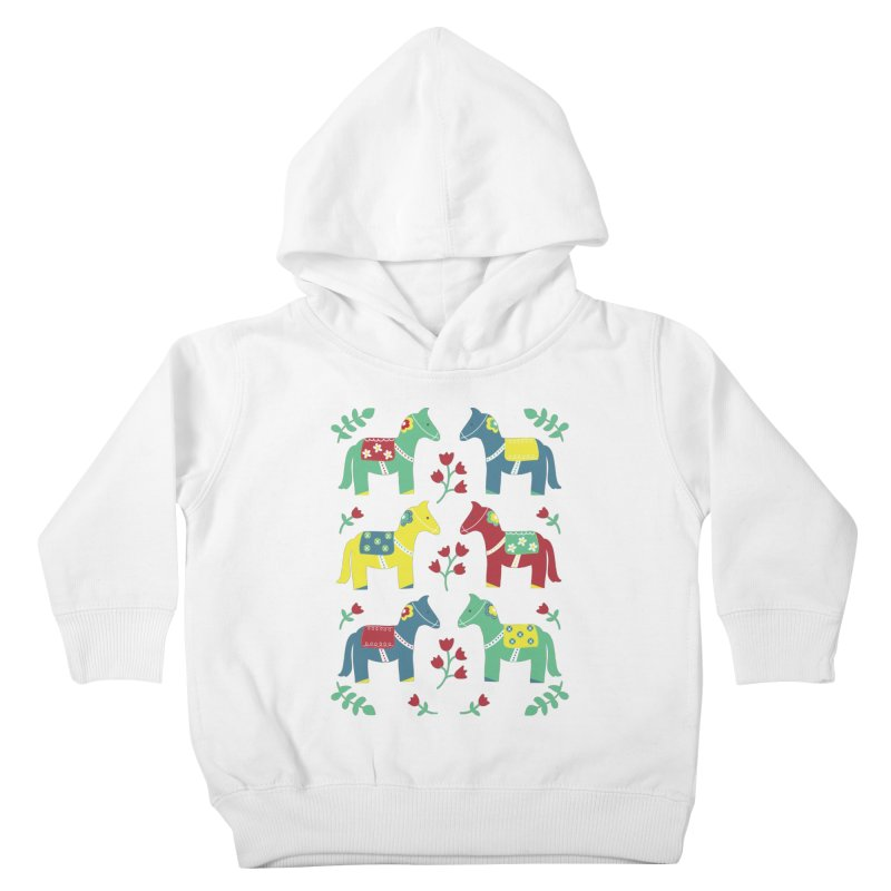 Scandinavian Horses Print Kids Toddler Pullover Hoody by prettyprismatic's Artist Shop