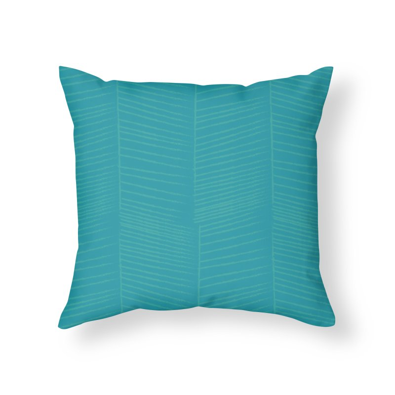 Herringbone - Teal Home Throw Pillow by prettyprismatic's Artist Shop