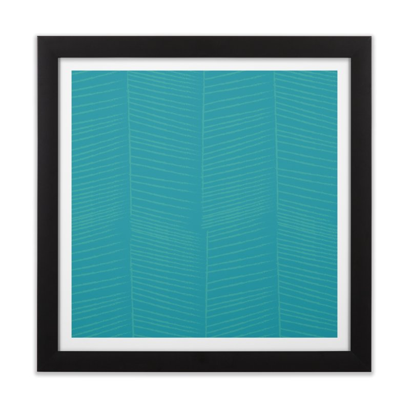 Herringbone - Teal Home Framed Fine Art Print by prettyprismatic's Artist Shop