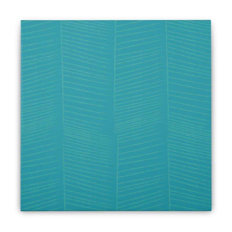 Herringbone - Teal Home Stretched Canvas by prettyprismatic's Artist Shop