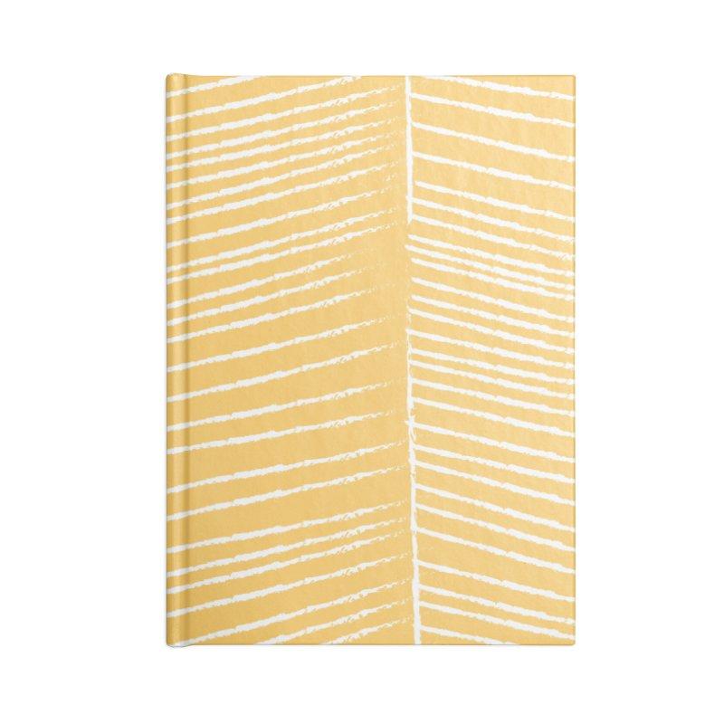 Herringbone - Marigold Accessories Notebook by prettyprismatic's Artist Shop