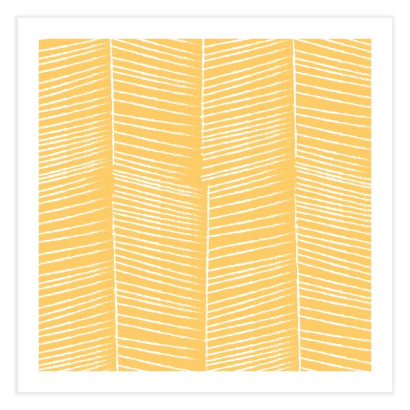 Herringbone - Marigold Home Fine Art Print by prettyprismatic's Artist Shop
