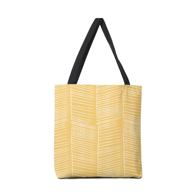 Herringbone - Marigold Accessories Bag by prettyprismatic's Artist Shop
