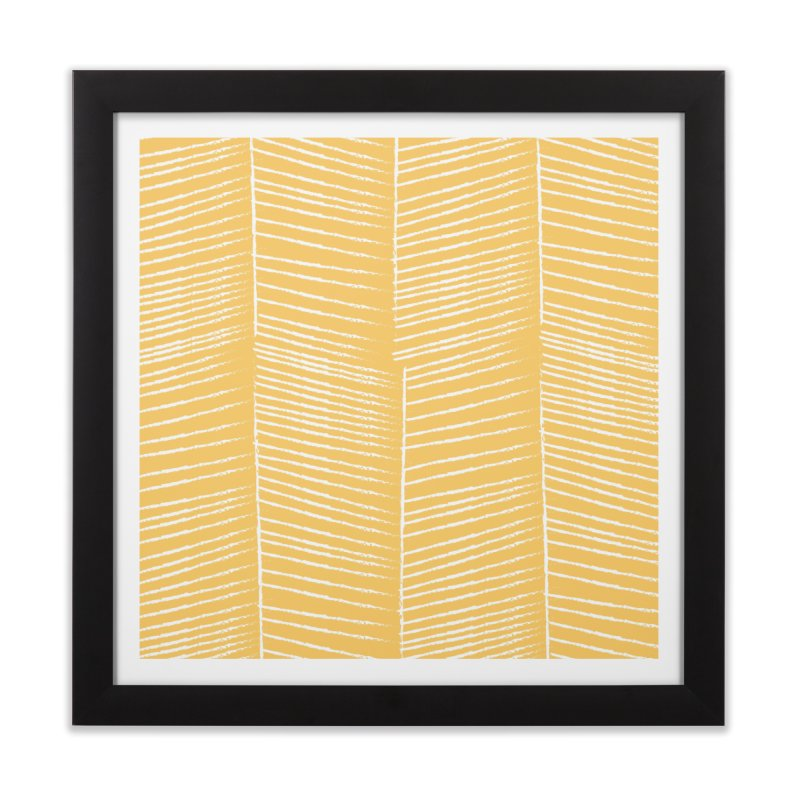 Herringbone - Marigold Home Framed Fine Art Print by prettyprismatic's Artist Shop