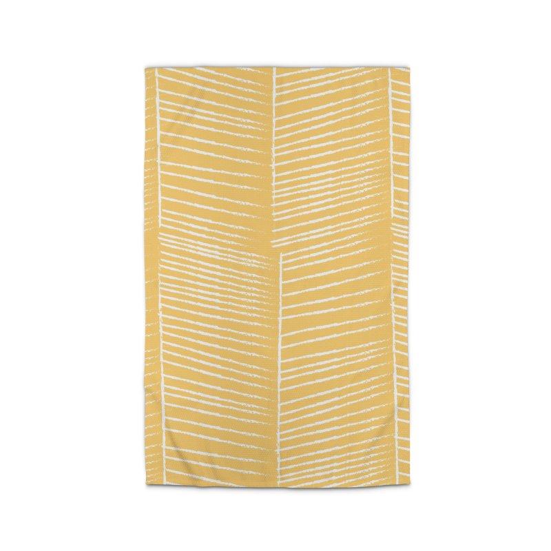 Herringbone - Marigold Home Rug by prettyprismatic's Artist Shop