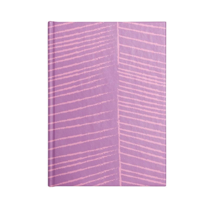 Herringbone - Orchid Accessories Lined Journal Notebook by prettyprismatic's Artist Shop