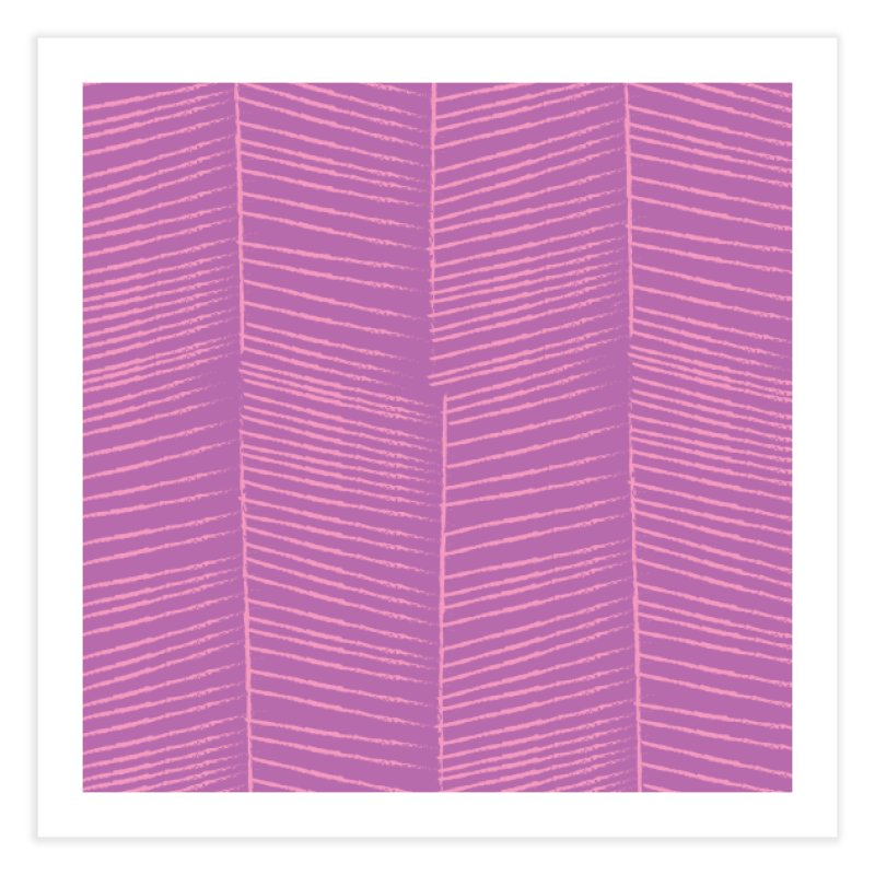 Herringbone - Orchid Home Fine Art Print by prettyprismatic's Artist Shop
