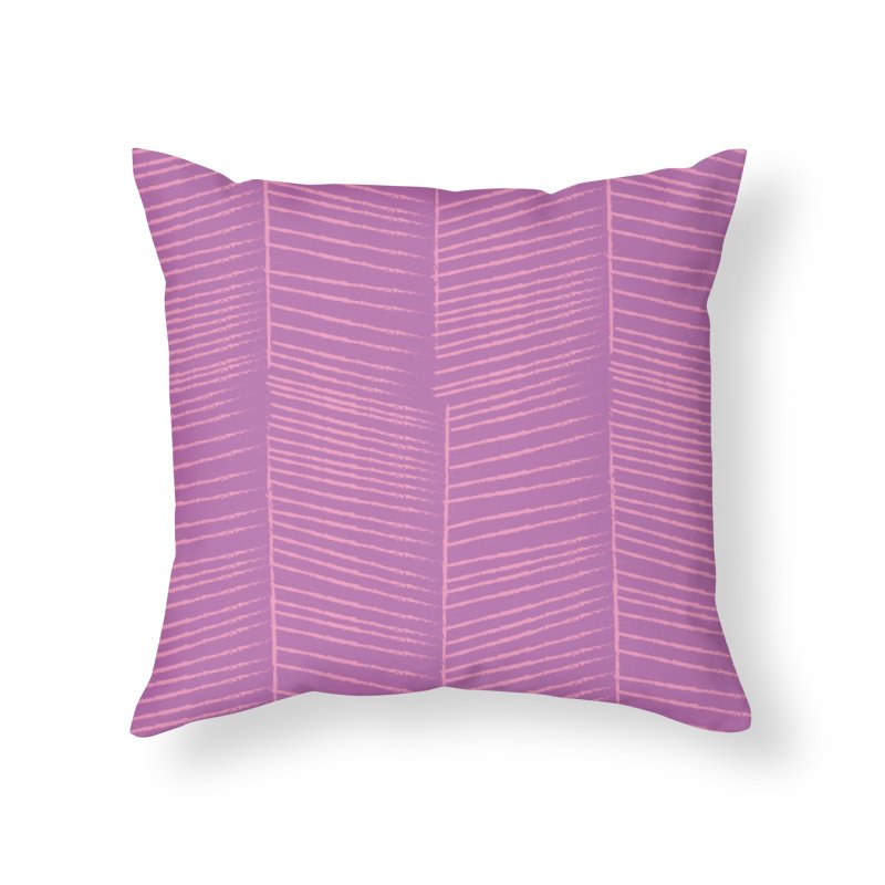 Herringbone - Orchid Home Throw Pillow by prettyprismatic's Artist Shop