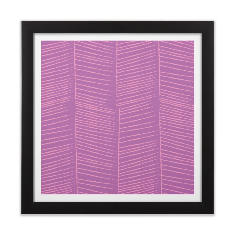 Herringbone - Orchid Home Framed Fine Art Print by prettyprismatic's Artist Shop