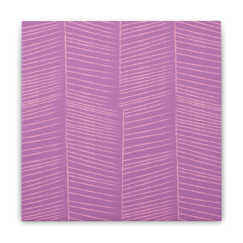 Herringbone - Orchid Home Stretched Canvas by prettyprismatic's Artist Shop