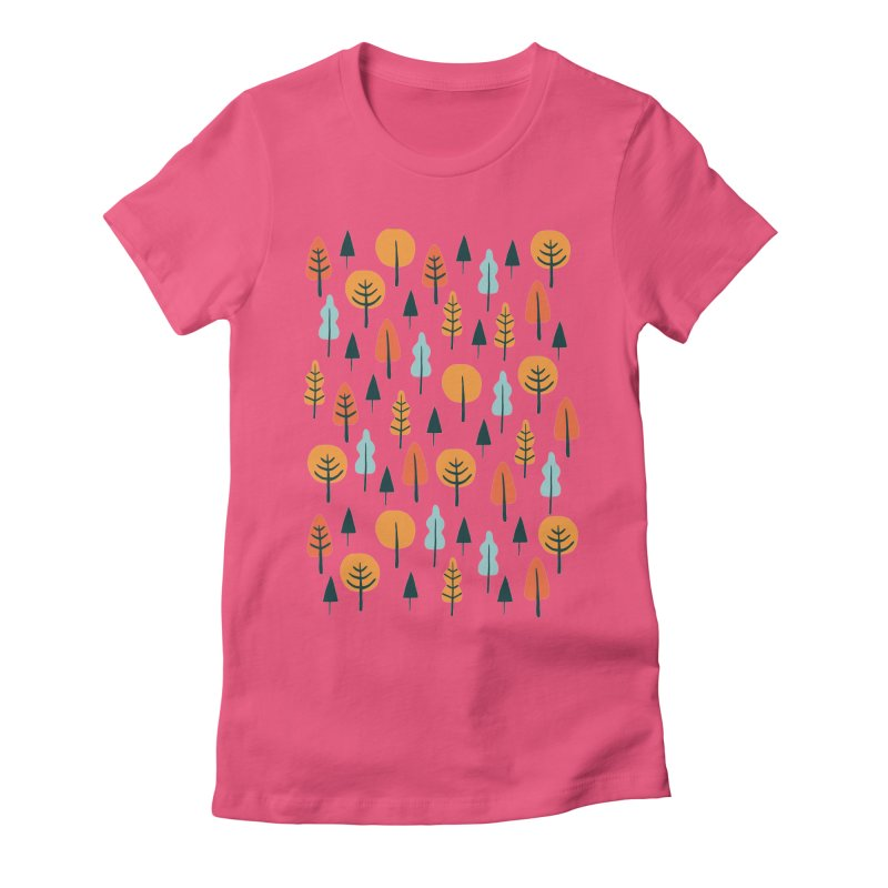 Fancy Forest  Women's Fitted T-Shirt by prettyprismatic's Artist Shop