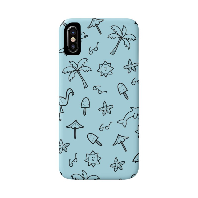 Summer Vacation Print - Light Blue Accessories Phone Case by prettyprismatic's Artist Shop