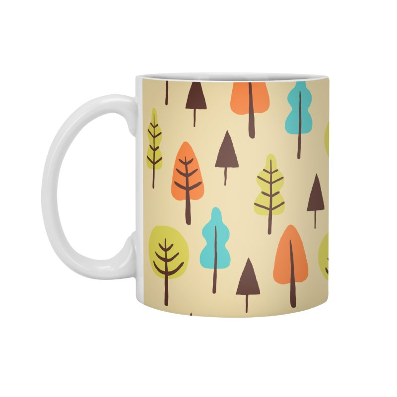 Fancy Forest - Retro Colors Accessories Mug by prettyprismatic's Artist Shop