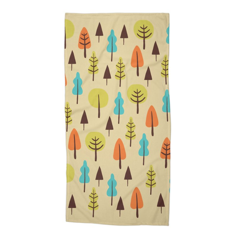Fancy Forest - Retro Colors Accessories Beach Towel by prettyprismatic's Artist Shop