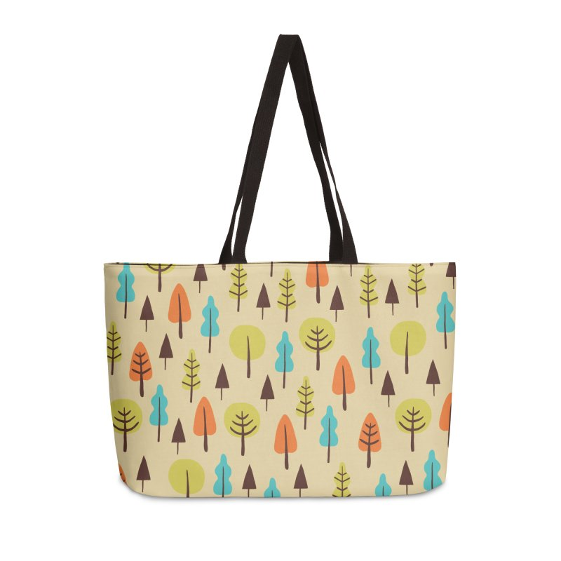Fancy Forest - Retro Colors Accessories Weekender Bag Bag by prettyprismatic's Artist Shop