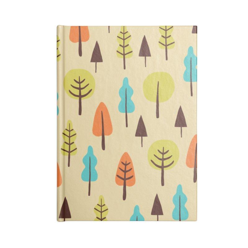 Fancy Forest - Retro Colors Accessories Notebook by prettyprismatic's Artist Shop