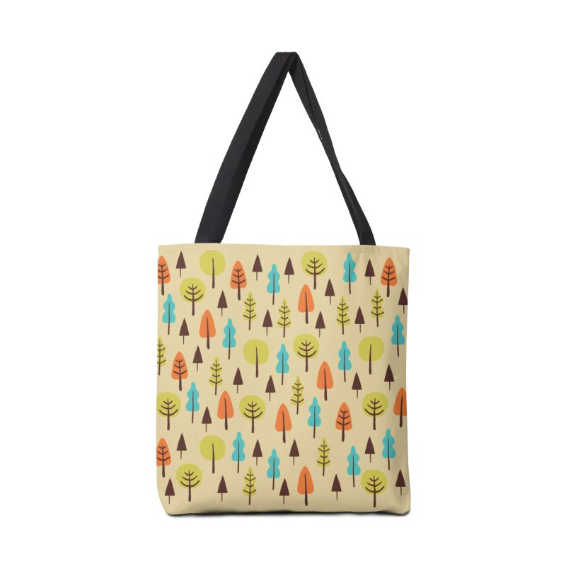 Fancy Forest - Retro Colors Accessories Tote Bag Bag by prettyprismatic's Artist Shop