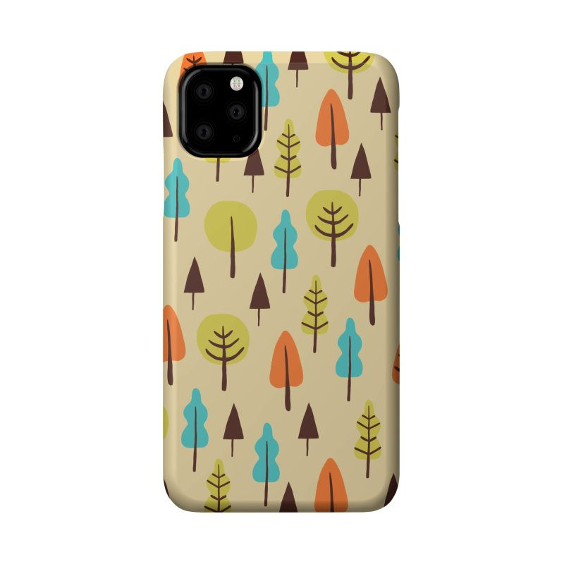Fancy Forest - Retro Colors Accessories Phone Case by prettyprismatic's Artist Shop