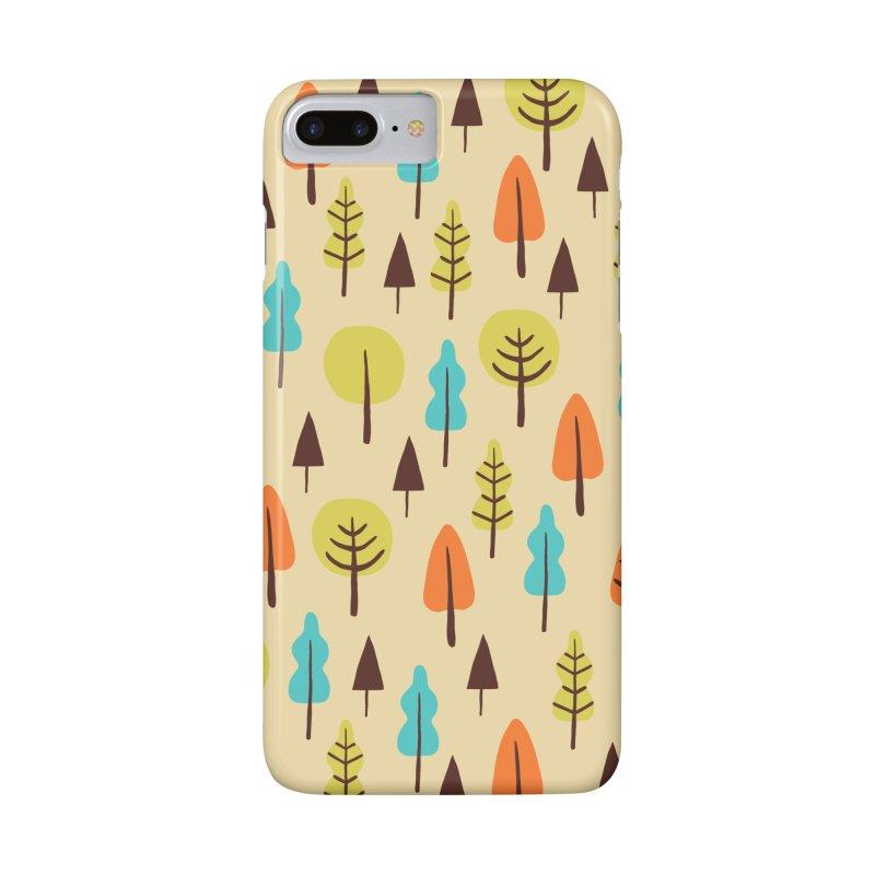 Fancy Forest - Retro Colors Accessories Phone Case by prettyprismatic's Artist Shop